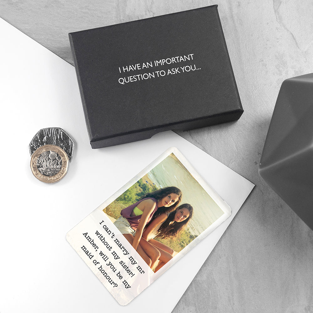 Personalised Bridesmaid Photographic Wallet Keepsake - treat-republic
