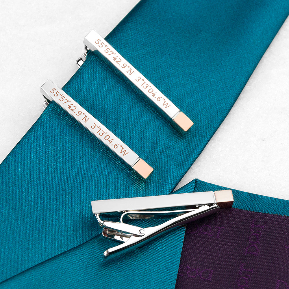 Special Coordinates Two Tone Tie Clip - treat-republic
