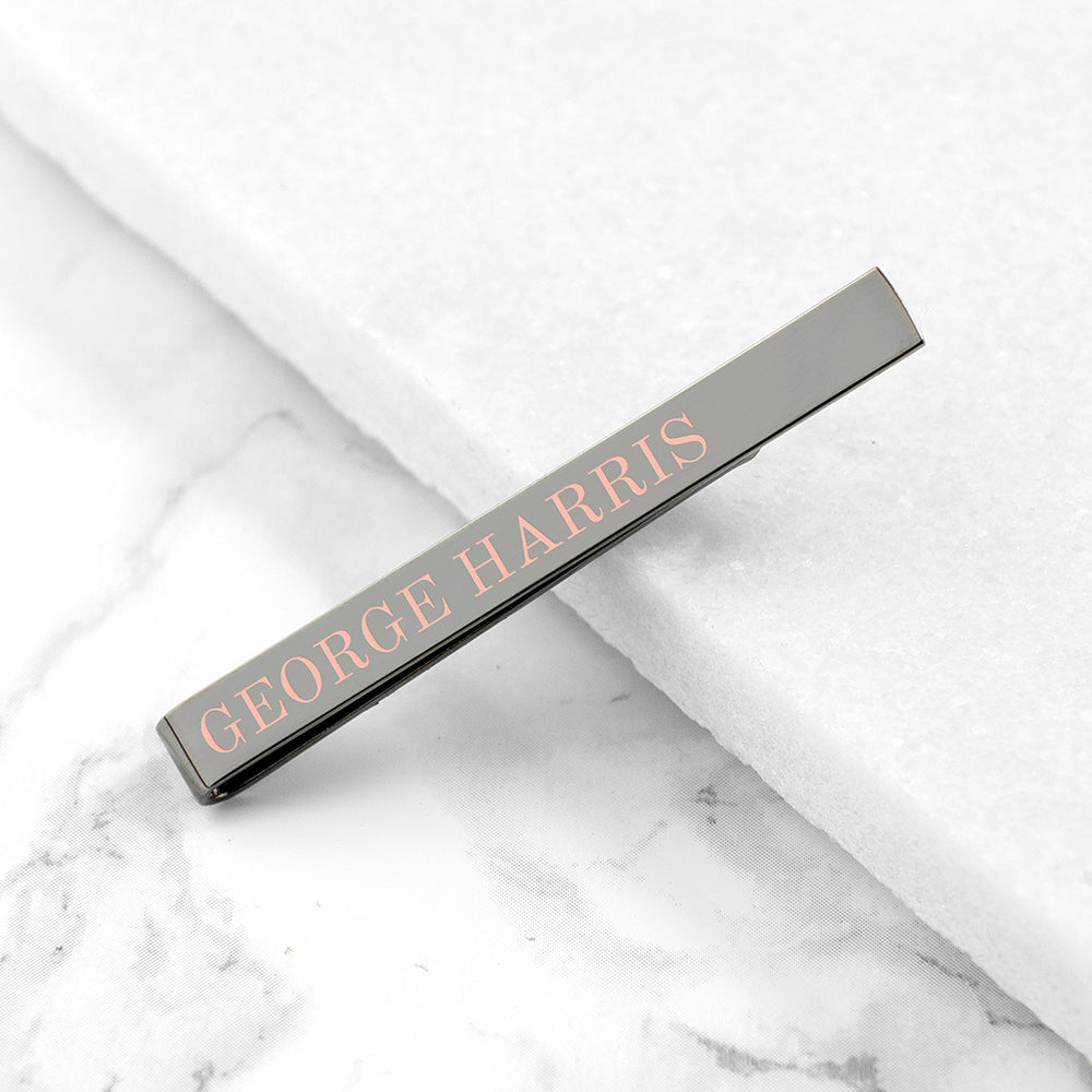 Personalised Message Tie Clip - treat-republic