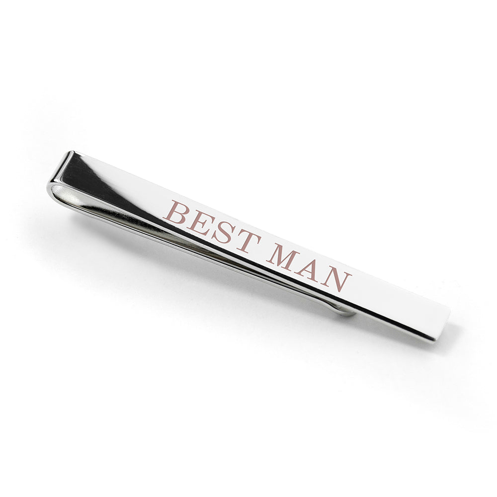 Personalised Bridal Party Tie Clip - treat-republic