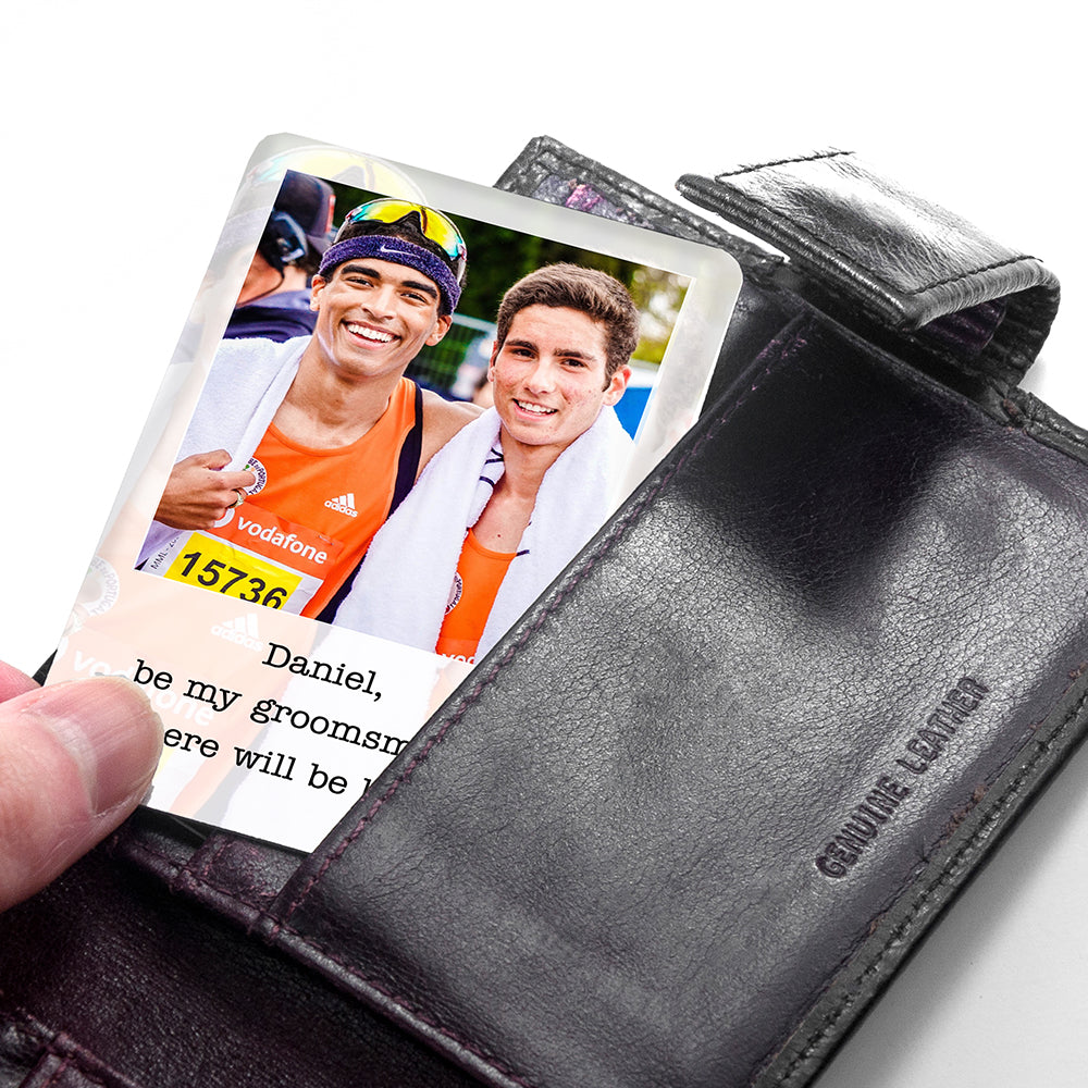 Personalised Groomsman Photographic Wallet Keepsake - treat-republic