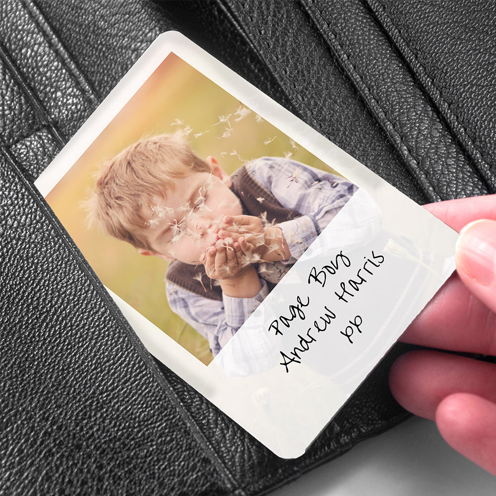 Personalised Page Boy Photographic Wallet Keepsake - treat-republic