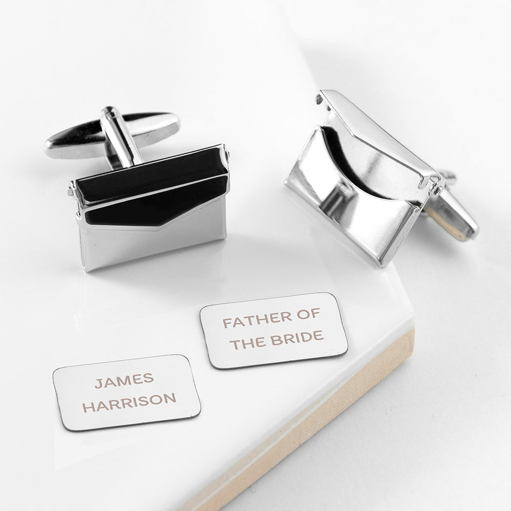 Personalised Secret Message Envelope Cufflinks - treat-republic