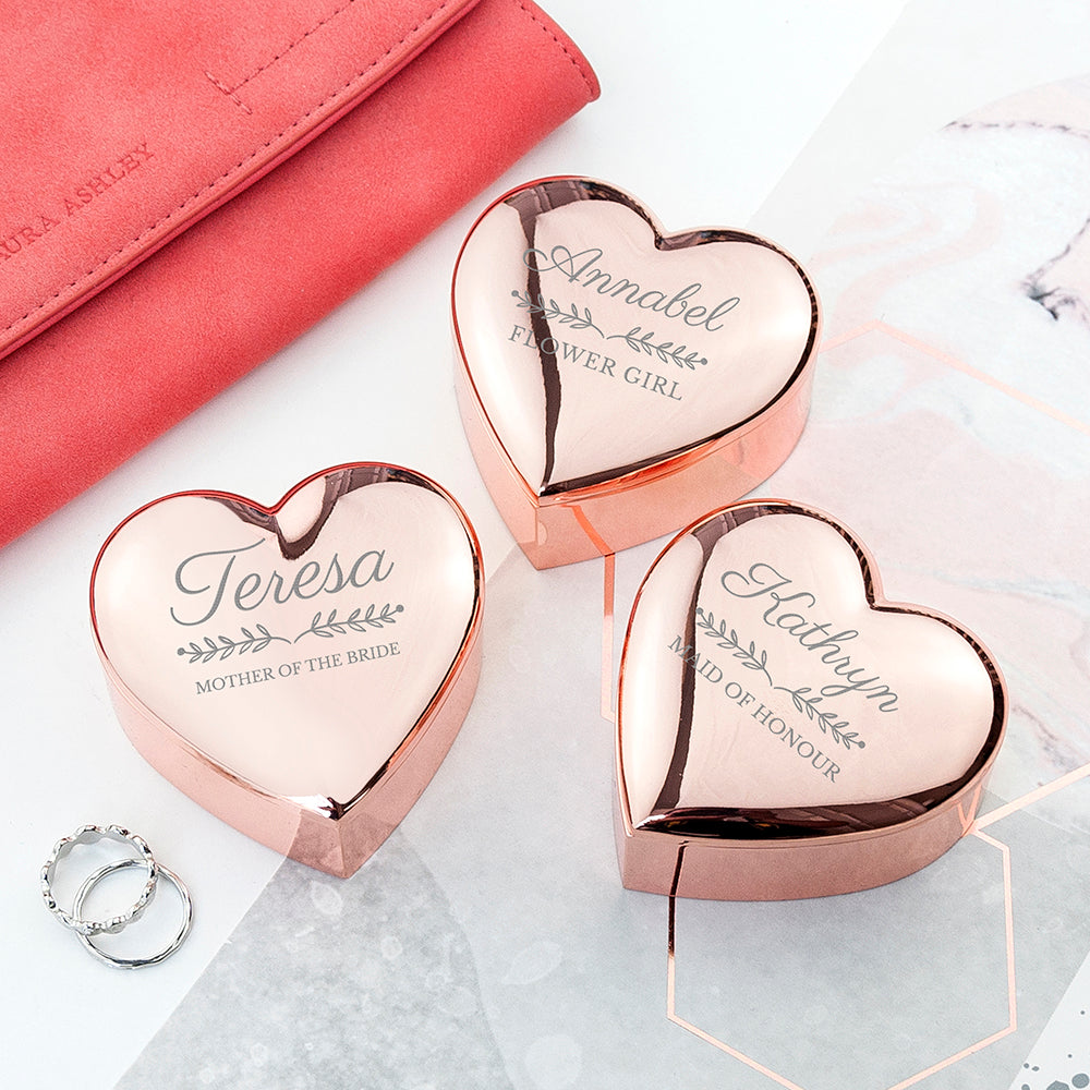 Personalised Bridal Party Heart Trinket Box - treat-republic