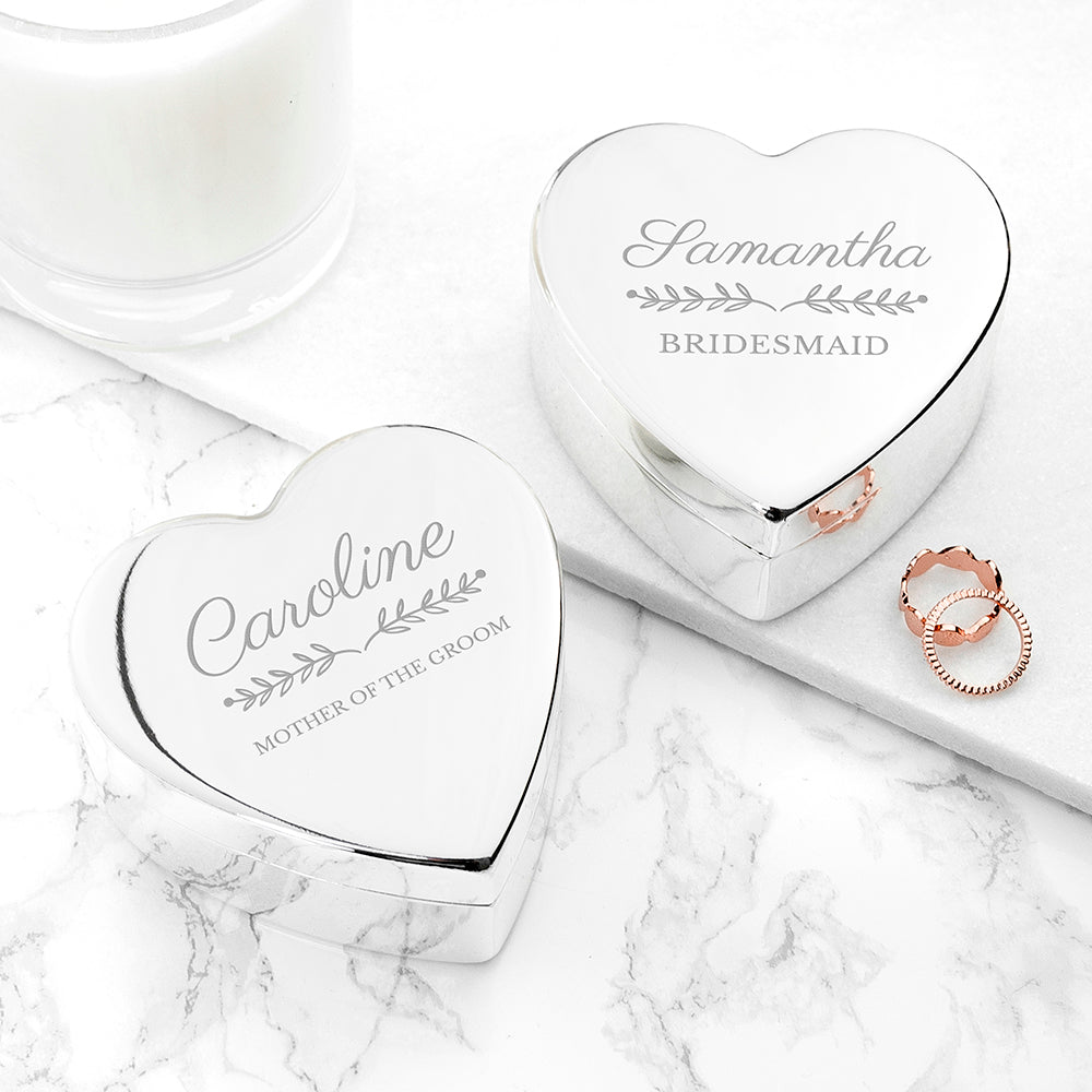 Personalised Bridal Party Heart Jewellery Box - treat-republic