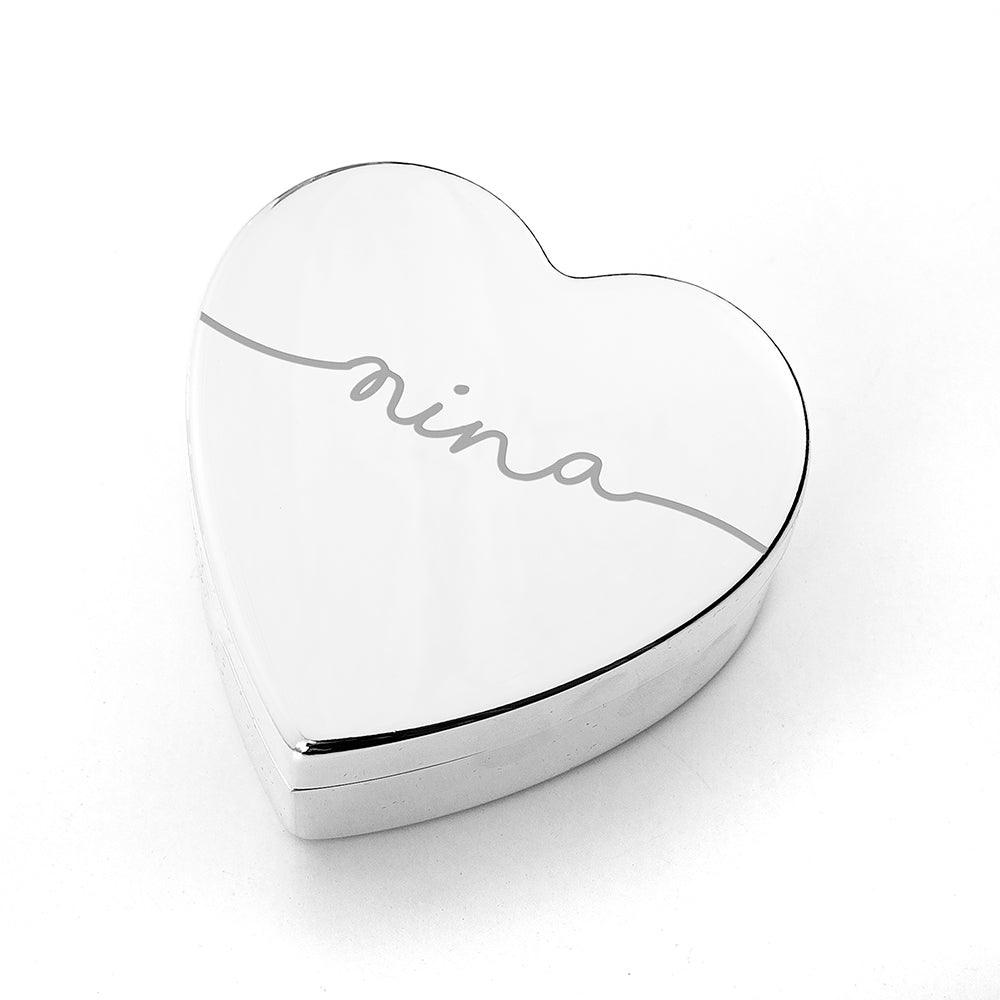 Personalised Heart Jewellery Box - treat-republic