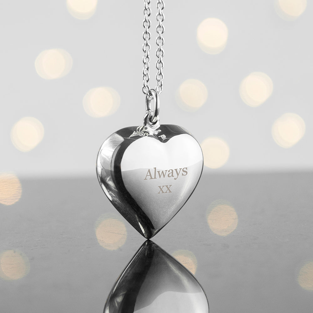 Personalised Sterling Silver Heart Necklace