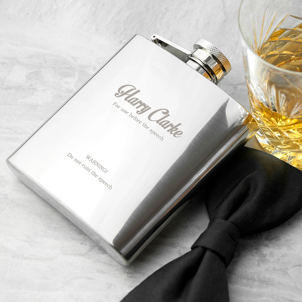 Best Man 6oz Hip Flask - treat-republic