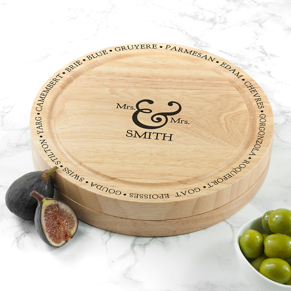 Connoisseur Mr and Mrs Cheese Board Set - treat-republic
