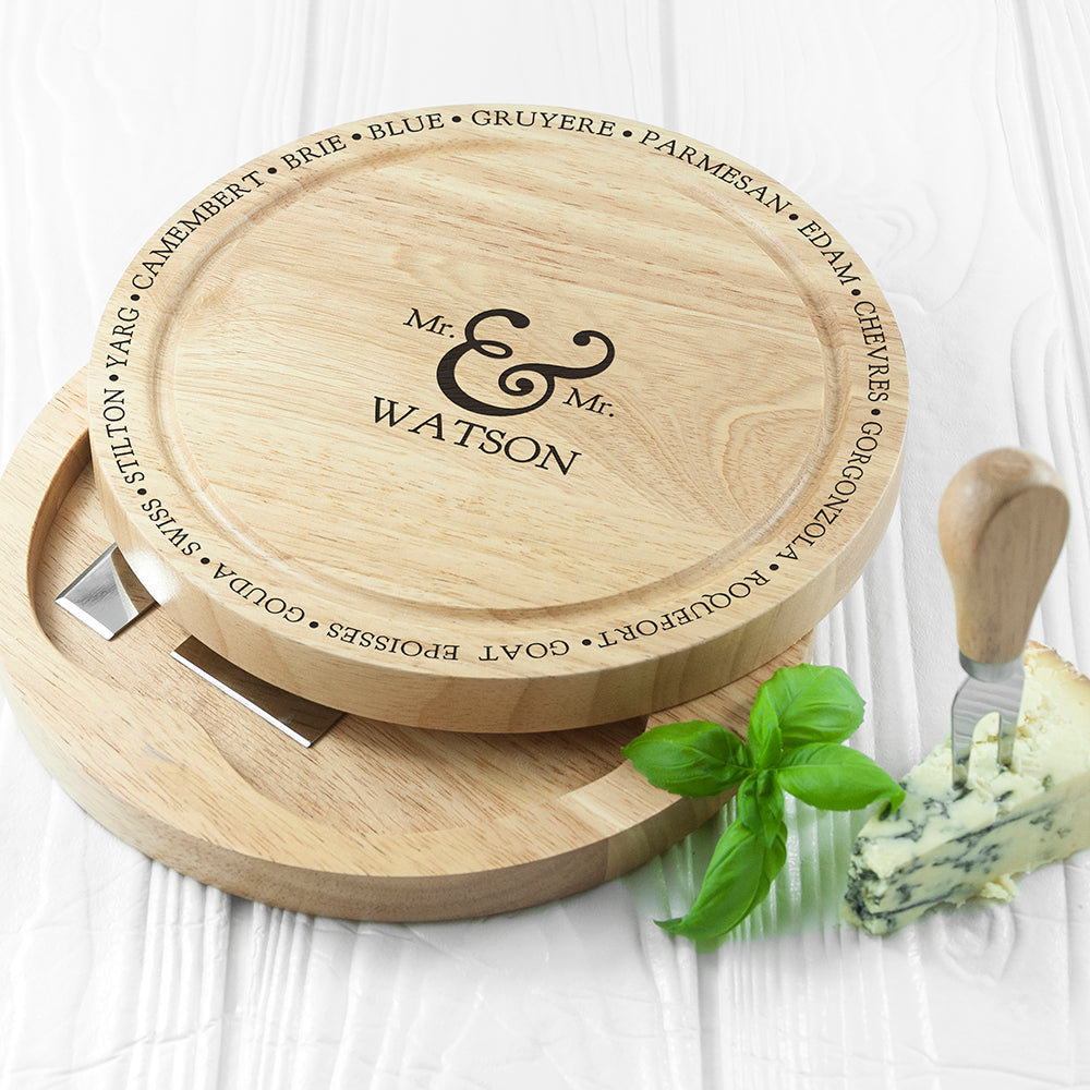 Connoisseur Mr and Mrs Cheese Board Set