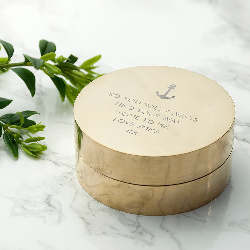 Personalised Iconic Adventurer's Sundial Compass - Wedding and Anniversary Gift Collection
