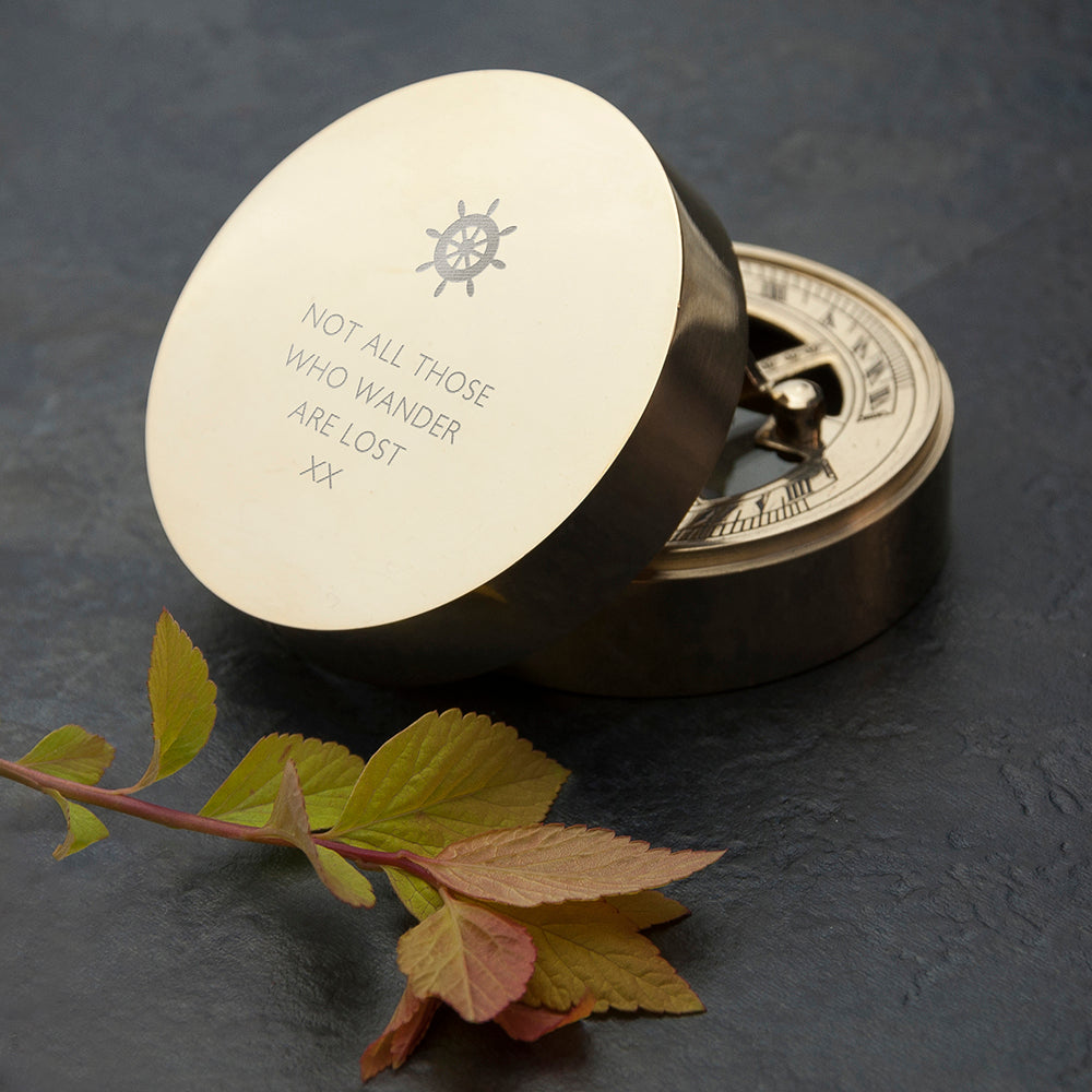 Personalised Iconic Adventurer's Sundial Compass - Wedding and Anniversary Gift Collection - treat-republic