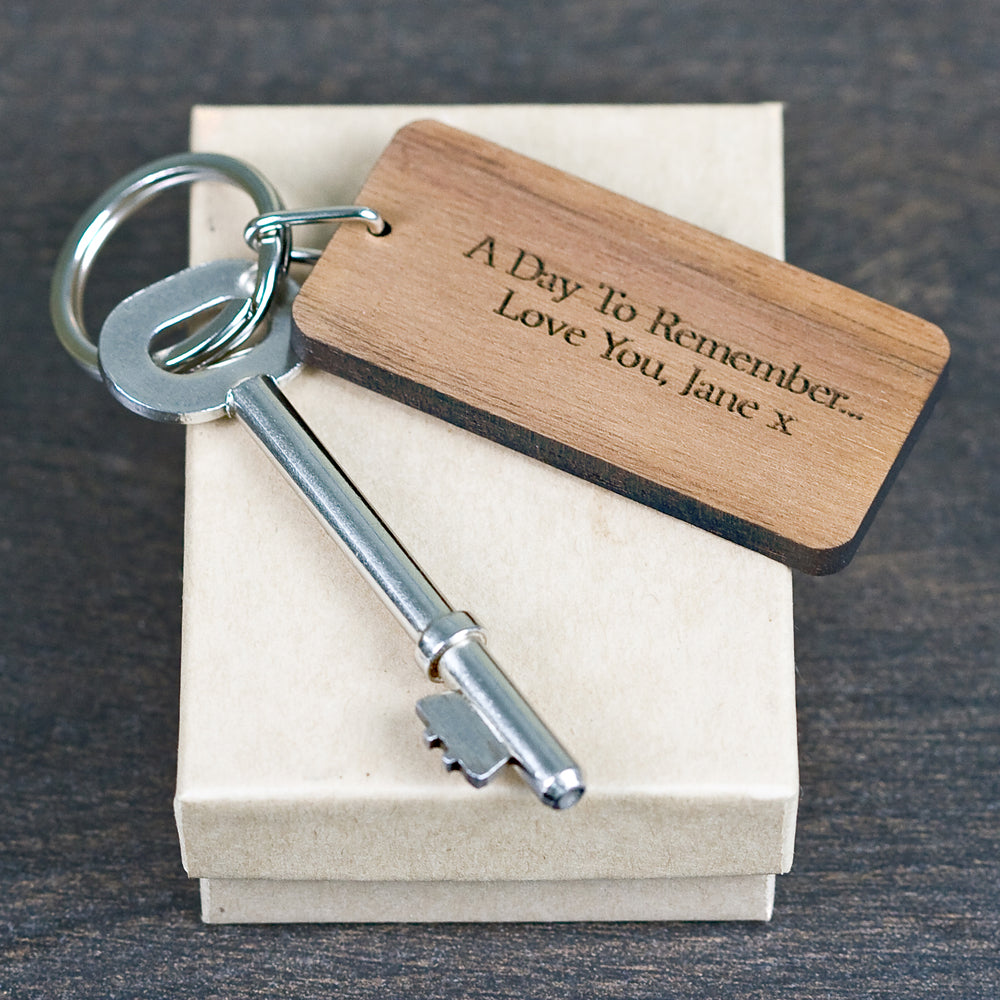 Custom Special Date Keyring - Rectangle Frame Design - treat-republic
