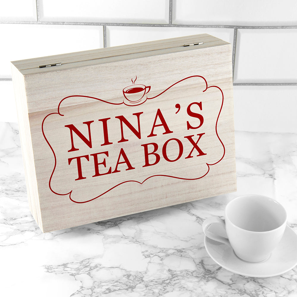 'Love Chai' Tea Box With Name