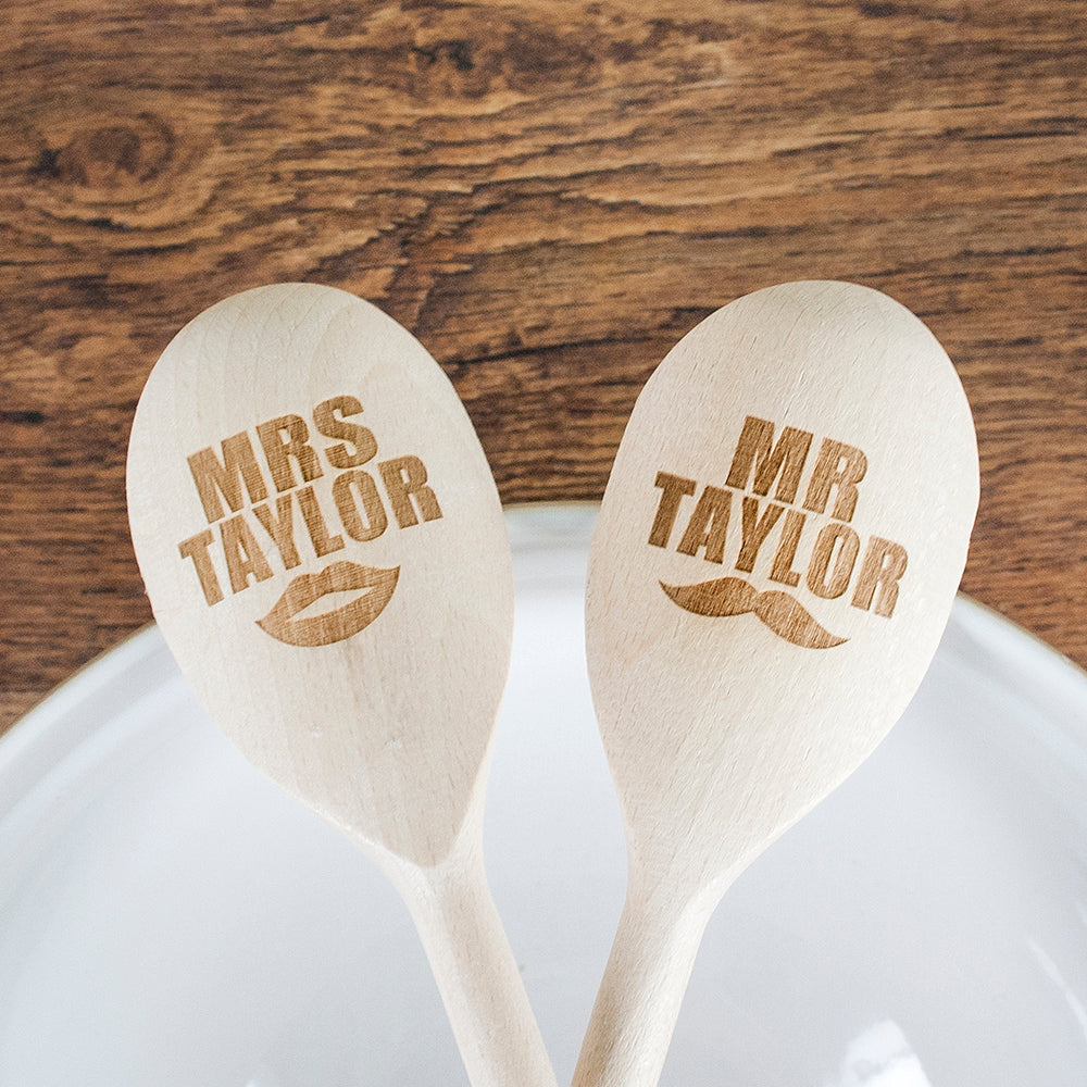 Mr & Mrs Wooden Spoons