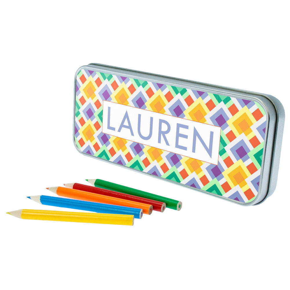 Funky Diamond Pattern Pencil Case - treat-republic
