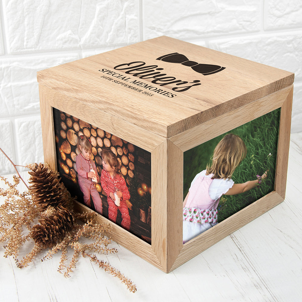 Baby's Special Memories Oak Photo Keepsake Box - treat-republic