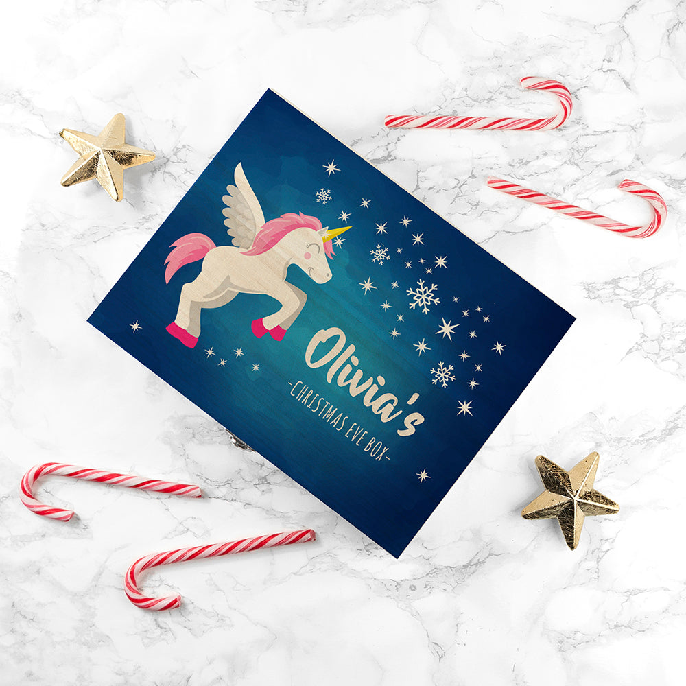 Personalised Baby Unicorn Christmas Eve Box - treat-republic