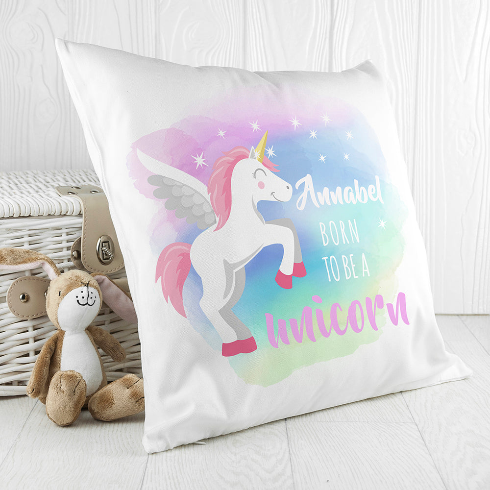 Personalised Baby Unicorn Cushion Cover - treat-republic