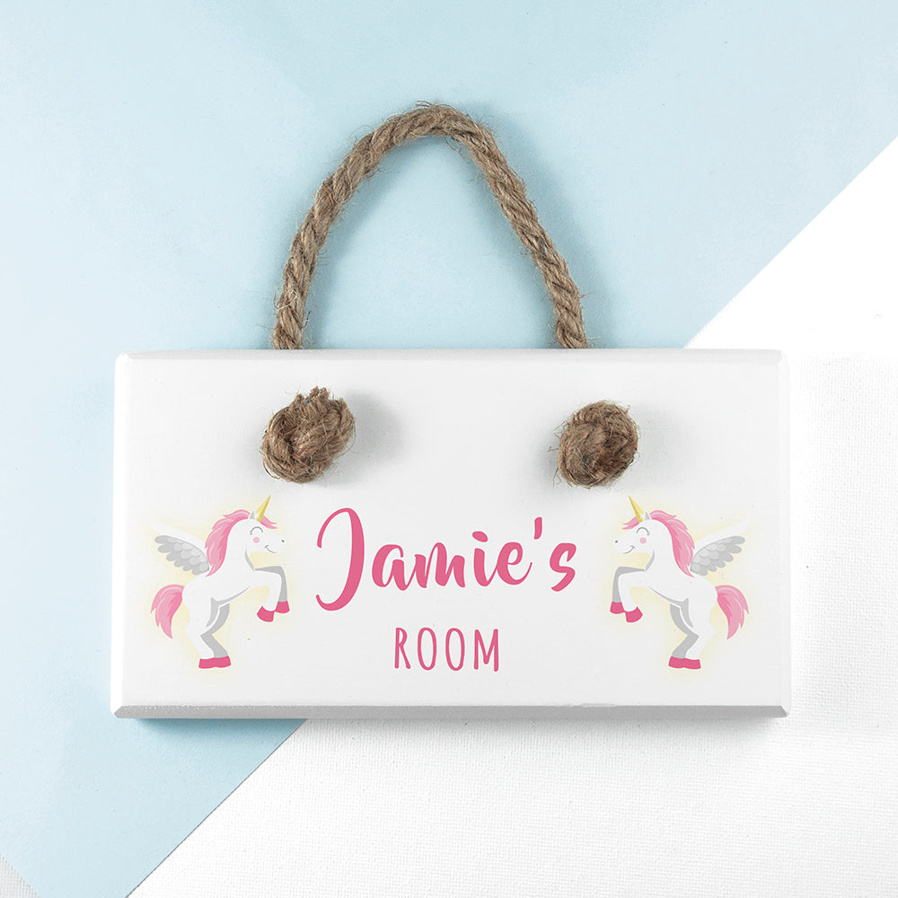 Personalised Baby Unicorn Door Sign - treat-republic