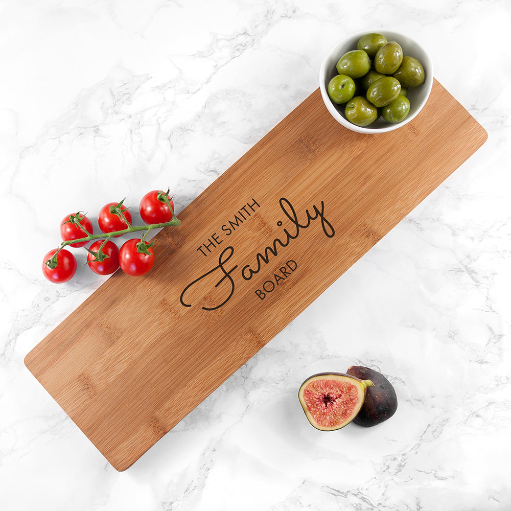 Personalised Bamboo Family Serving Board - treat-republic