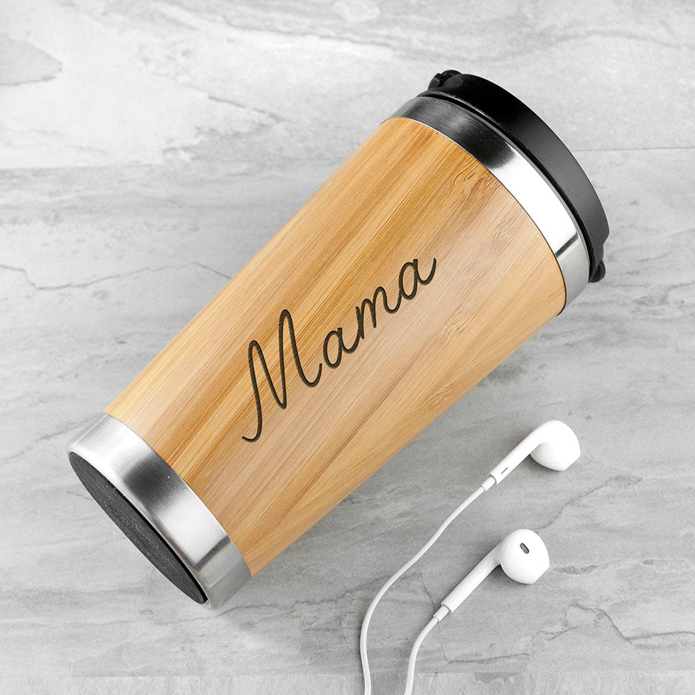 Personalised Bamboo Travel Mug - treat-republic
