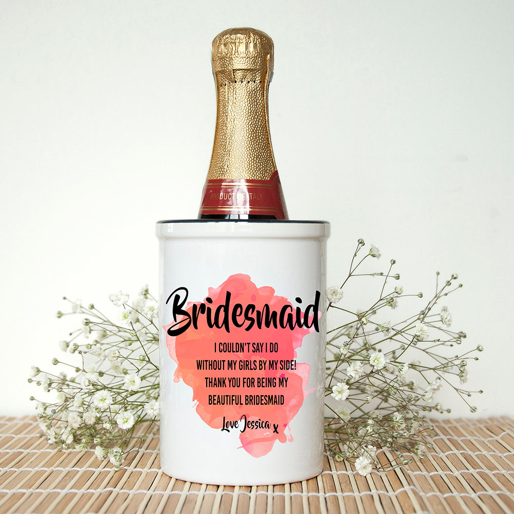 Personalised Bridesmaid Miniature Champagne Bucket - treat-republic