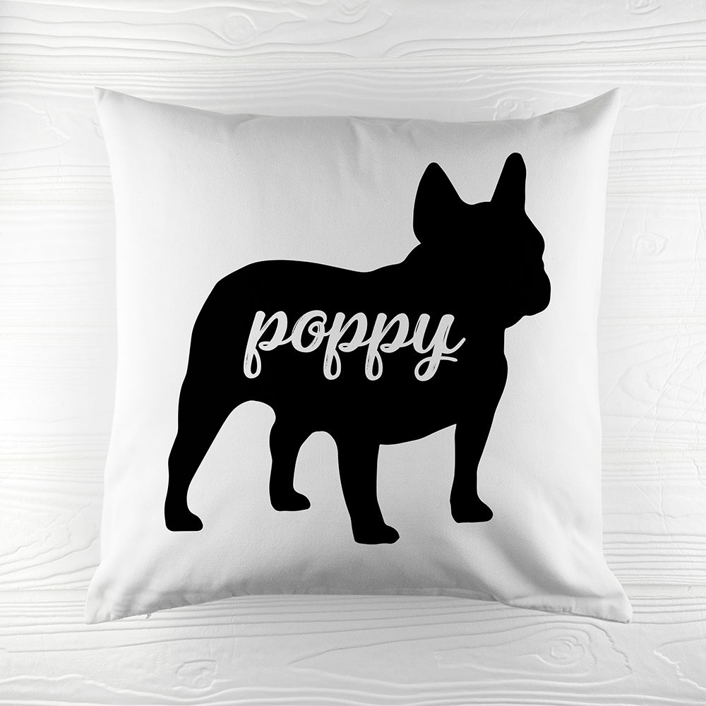 Personalised Bulldog Silhouette Cushion Cover - treat-republic