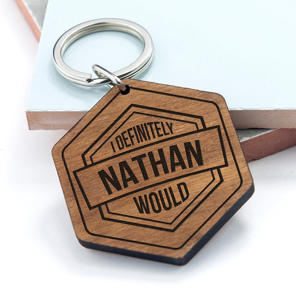 Personalised Cheeky Message Engraved Keyring - treat-republic