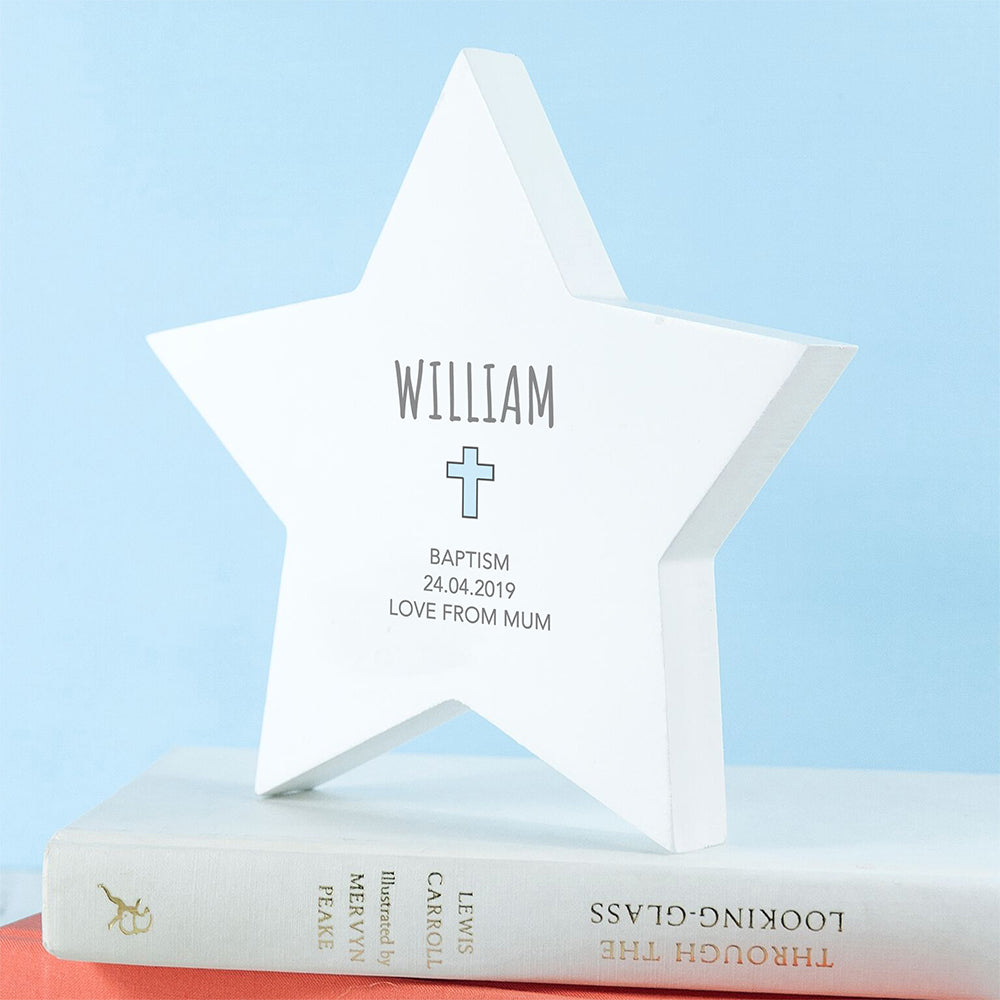 Personalised Christening Star Keepsake - treat-republic