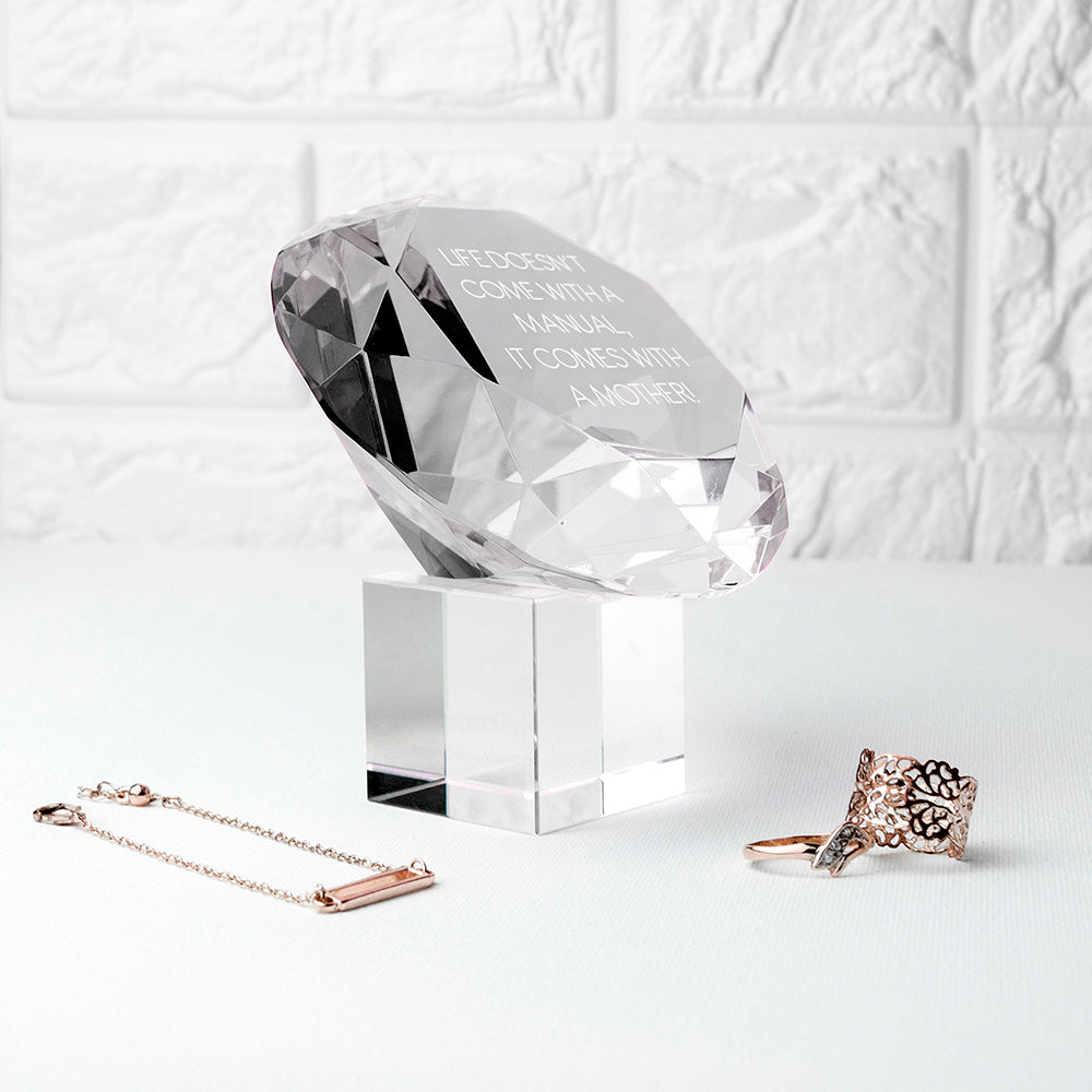 Personalised Clear Diamond Paper Weight - treat-republic
