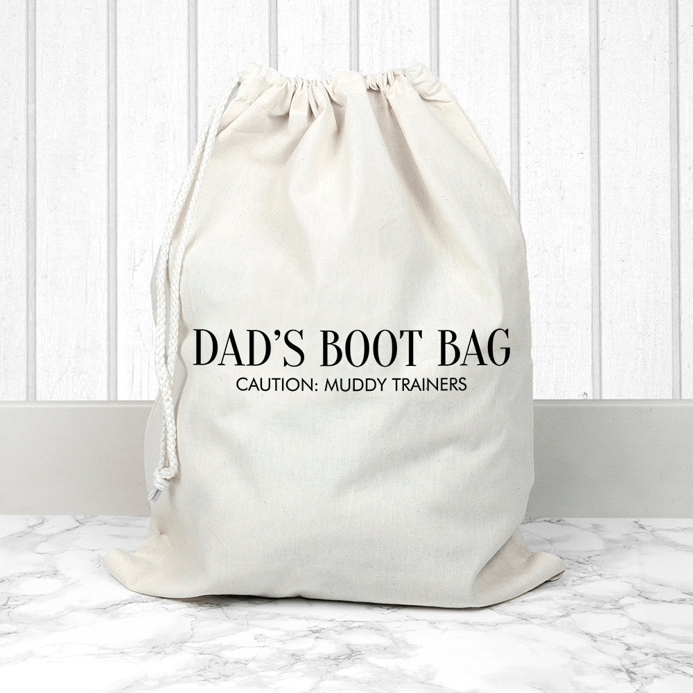 Personalised Cotton Cream Boot Bag - treat-republic