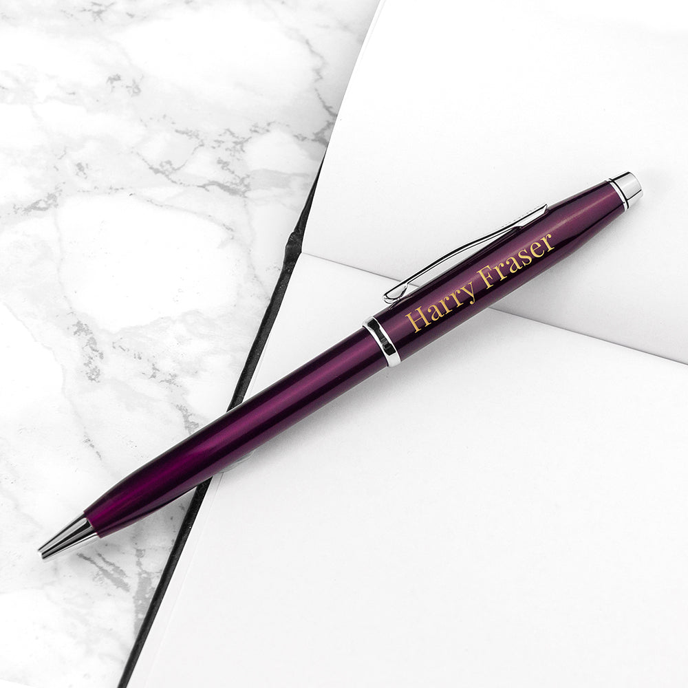 Personalised Cross Century II Pen in Plum