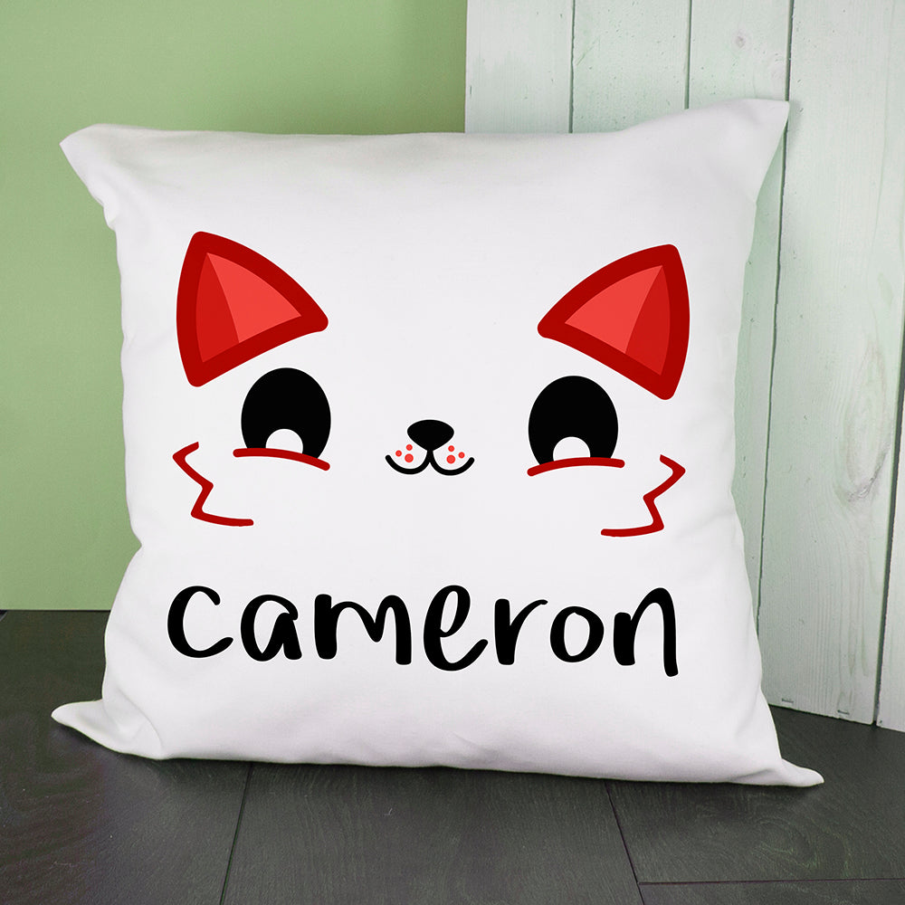 Personalised Cute Fox Eyes Cushion Cover - treat-republic