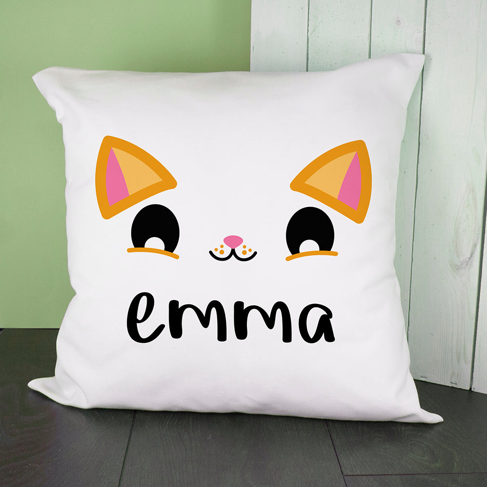 Personalised Cute Kitten Eyes Cushion Cover - treat-republic