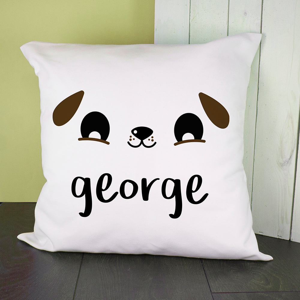 Personalised Cute Puppy Eyes Cushion Cover - treat-republic