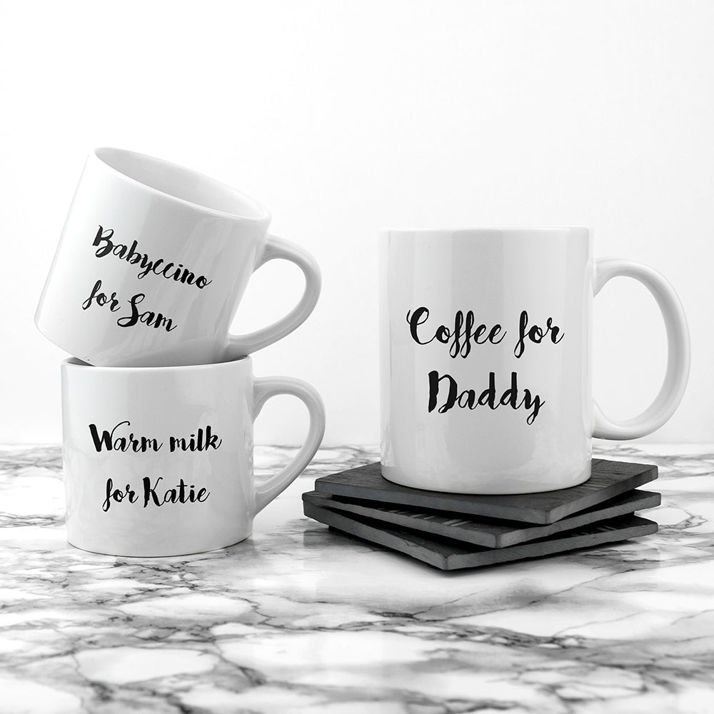 Personalised Daddy & Me Coffee and Catch Up Mugs - treat-republic