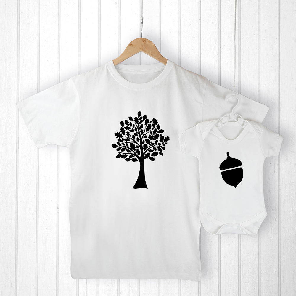 Personalised Daddy and Me Acorn Set - treat-republic