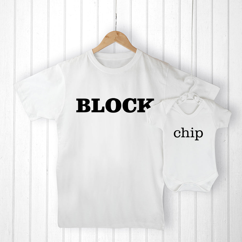 Personalised Daddy and Me Chip off the Old Block Set - treat-republic