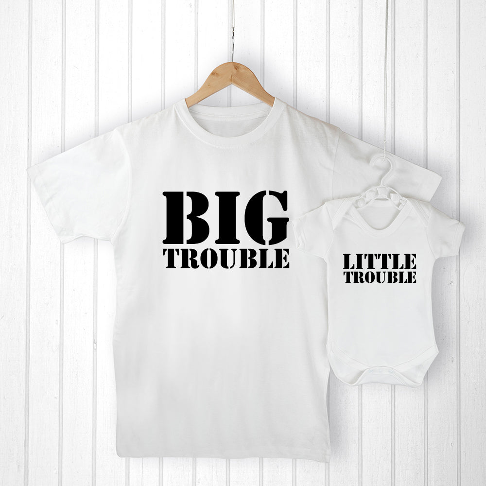 Personalised Daddy and Me Here Comes Trouble Set - treat-republic