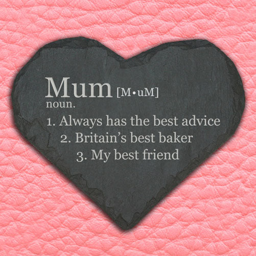 Personalised Definition of Mummy Heart Slate Keepsake - treat-republic