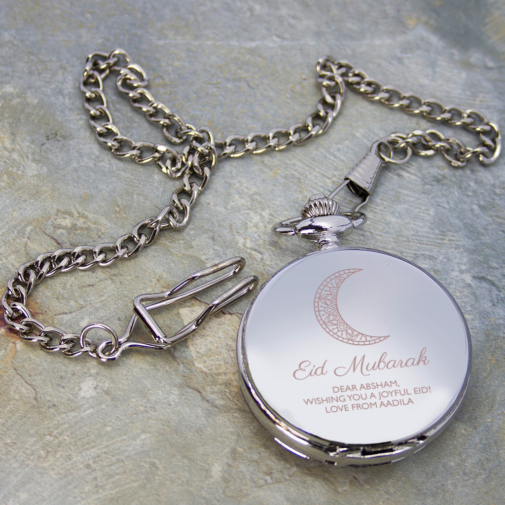 Personalised Eid Mubarak Dual Pocket Watch - treat-republic