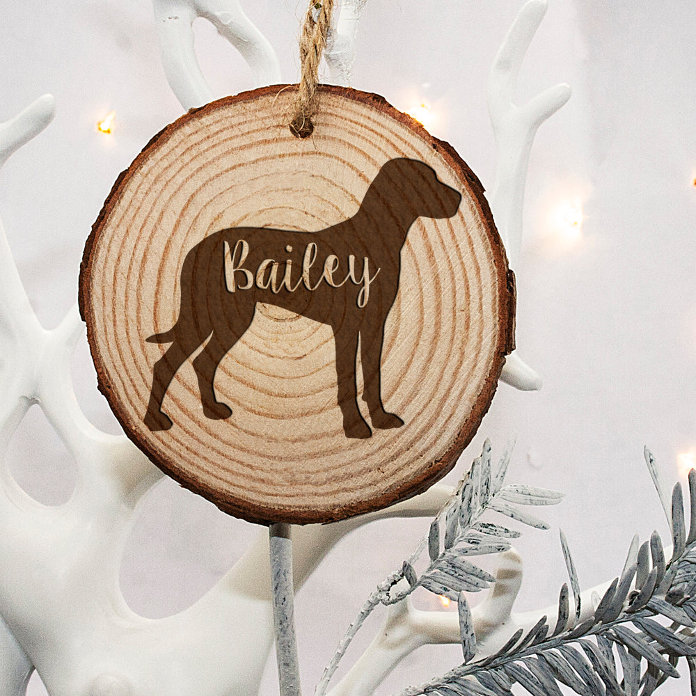 Personalised Engraved Dog Silhouette Christmas Tree Decoration - treat-republic
