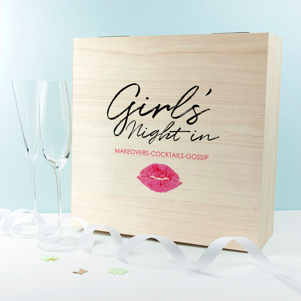Personalised Exclusive Girls' Night Box - treat-republic