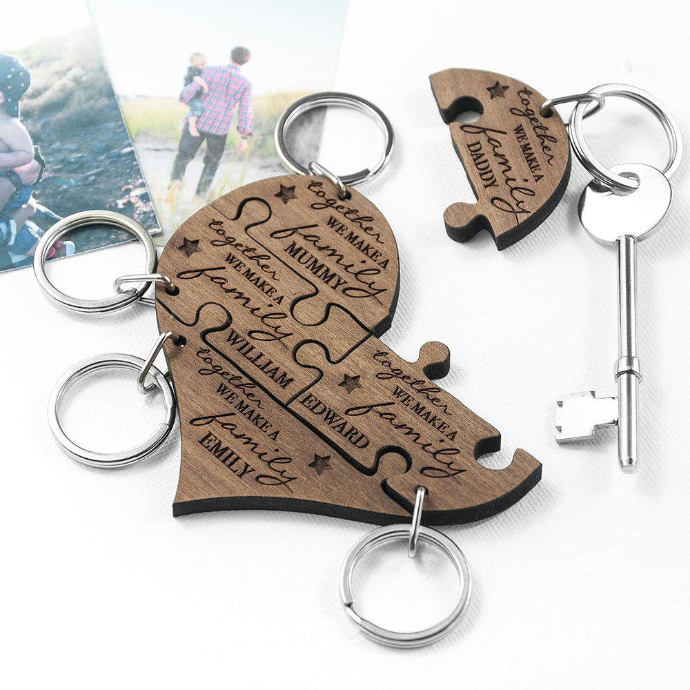 Personalised Family Together Keyring - treat-republic