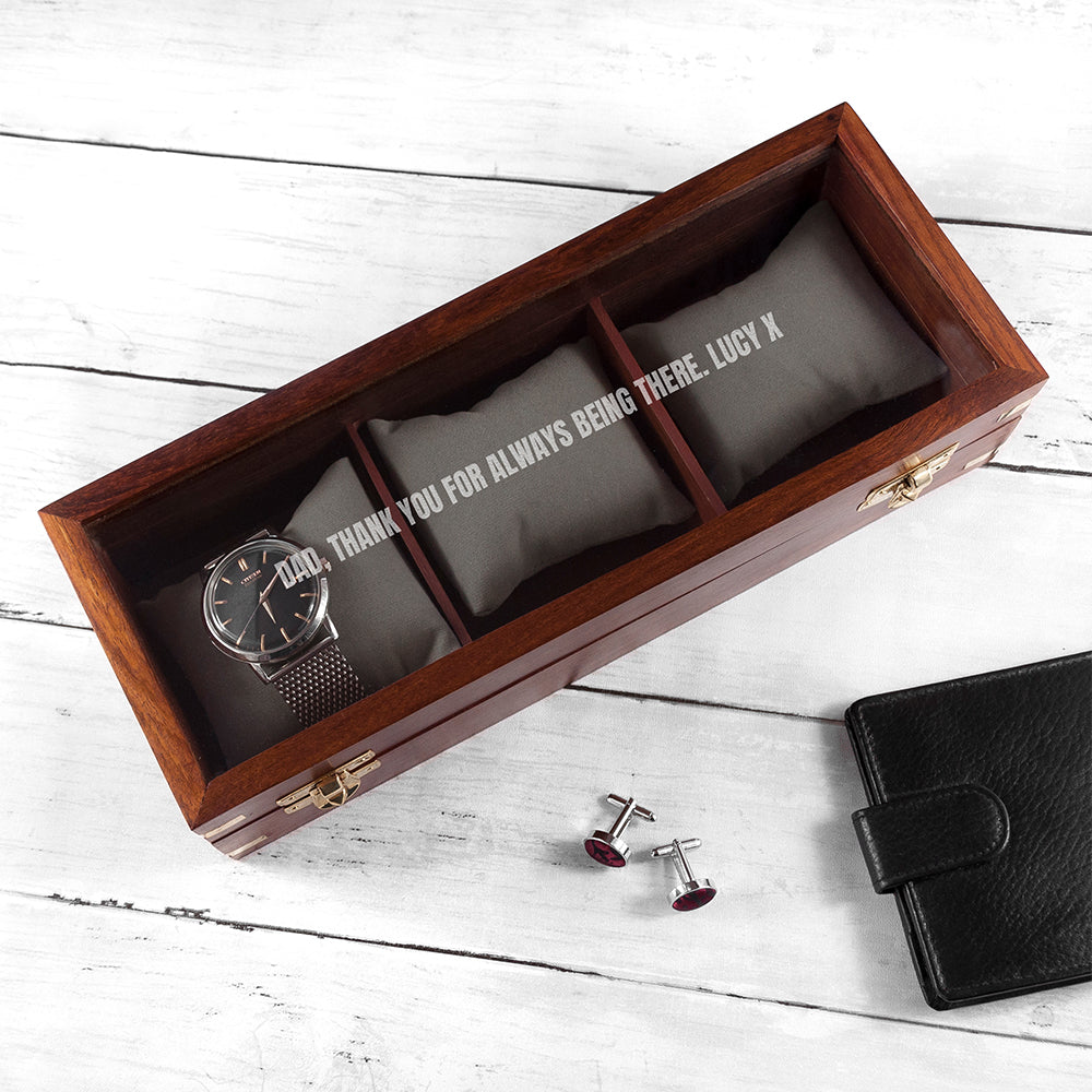 Personalised Wooden Watch Box - treat-republic