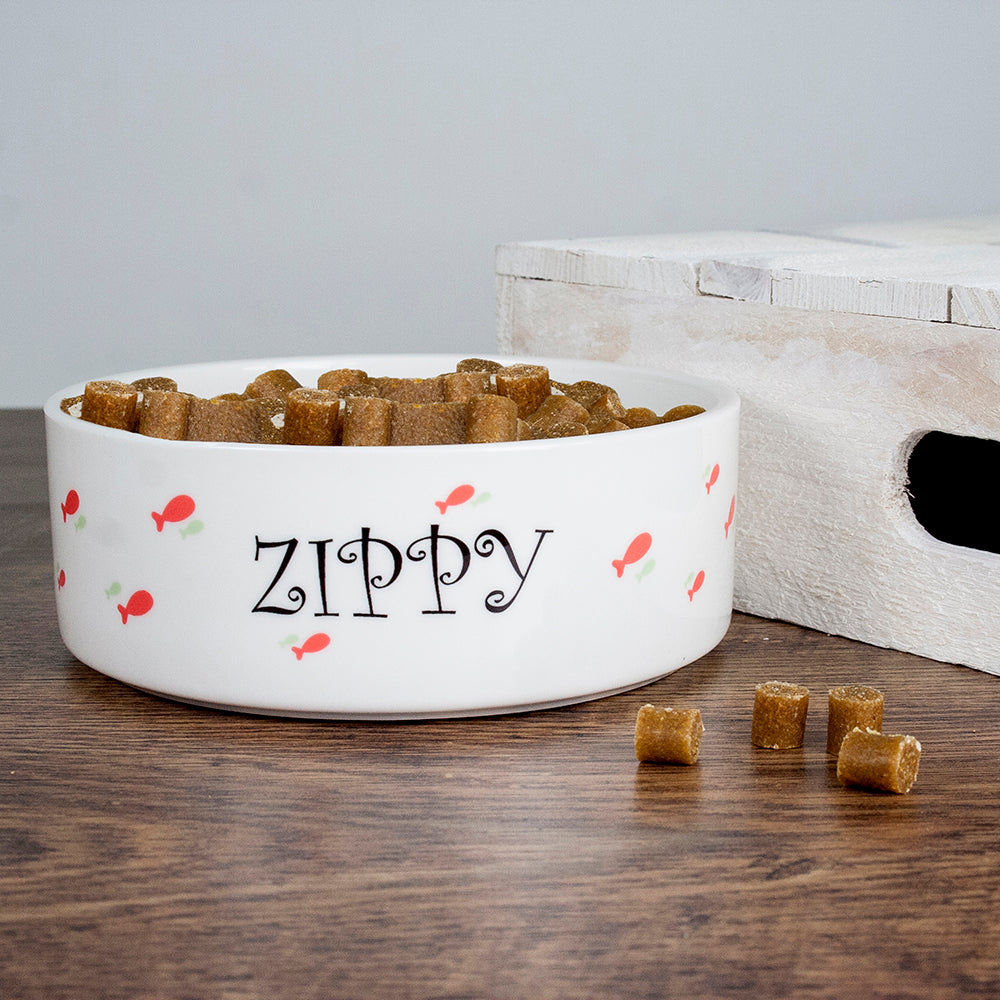 Personalised Female Fishy Cat Bowl - treat-republic