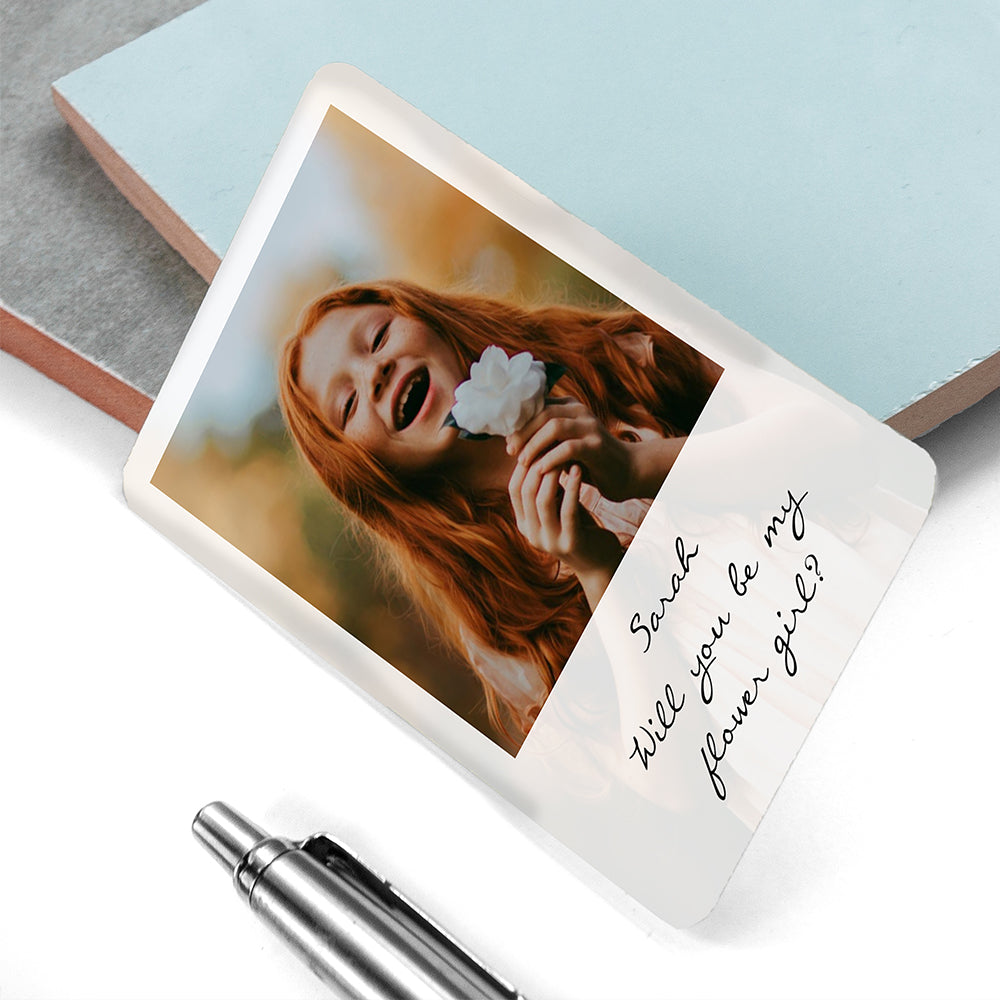 Personalised Flower Girl Photographic Wallet Keepsake - treat-republic