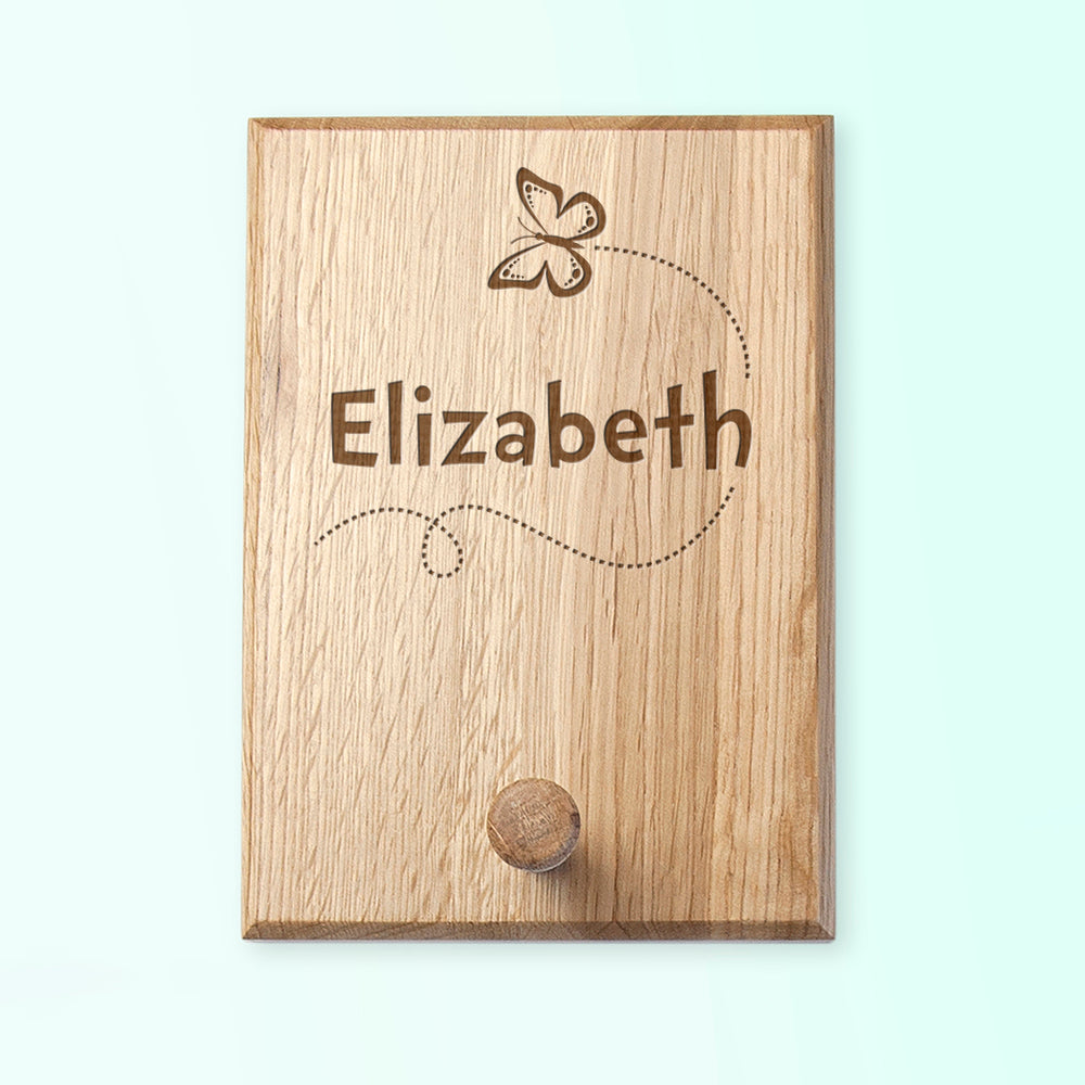 Personalised Flying Butterfly Peg Hook