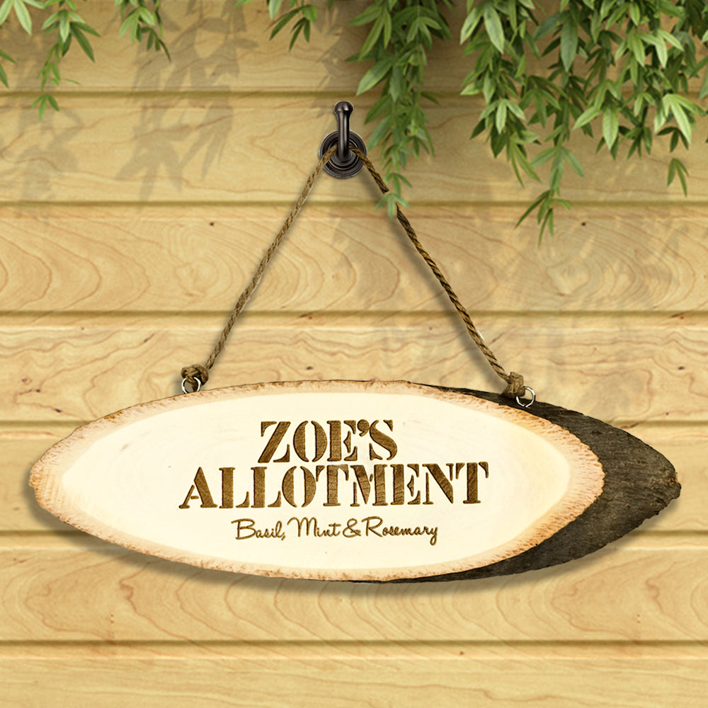 Personalised Garden Allotment Sign